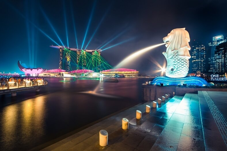 marina bay sands light show the best gift of singapore asia