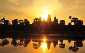 Seeing Sunrise at Angkor Wat