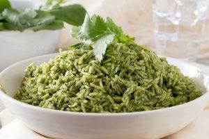 Green sticky rice
